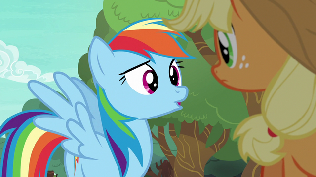 "File:Rainbow Dash asking ""what for?"" S6E18.png"