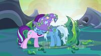Starlight Glimmer and Trixie sharing a hug again S6E26