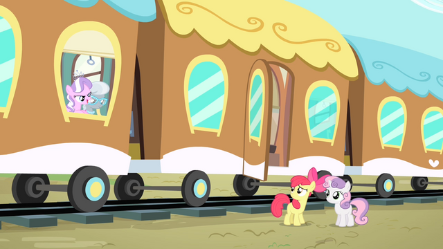 File:Diamond Tiara and Silver Spoon taunts Apple Bloom and Sweetie Belle S4E05.png