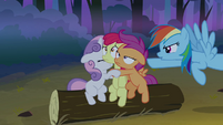 Rainbow pointing at the CMC S3E06