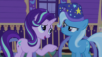 Starlight Glimmer apologizing to Trixie S6E25