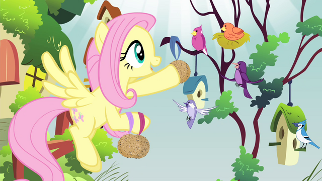 File:Fluttershy singing to the birds S4E14.png