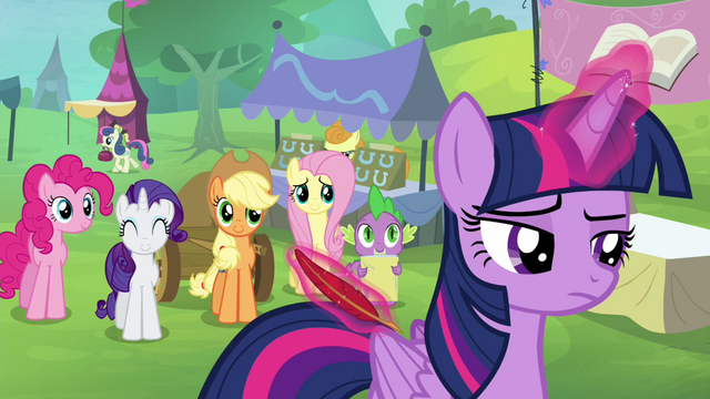 File:Twilight sighing and levitating a quill S4E22.png