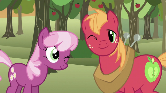 File:Cheerilee Big McIntosh wink S2E17.png