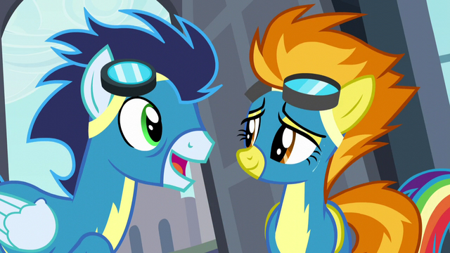 "File:Soarin ""Spitfire, you're back!"" S5E15.png"