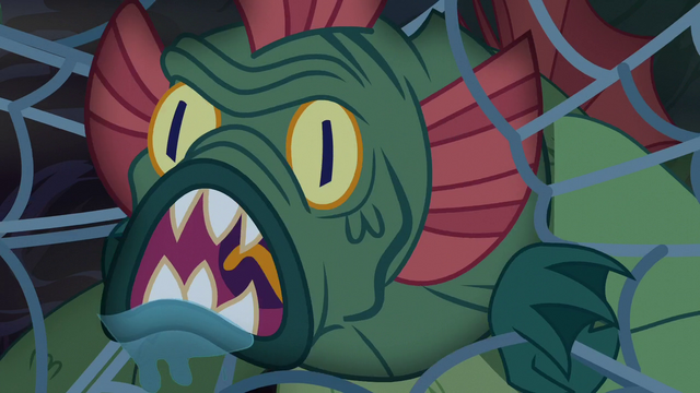 File:Swamp monster roaring through the web S5E21.png