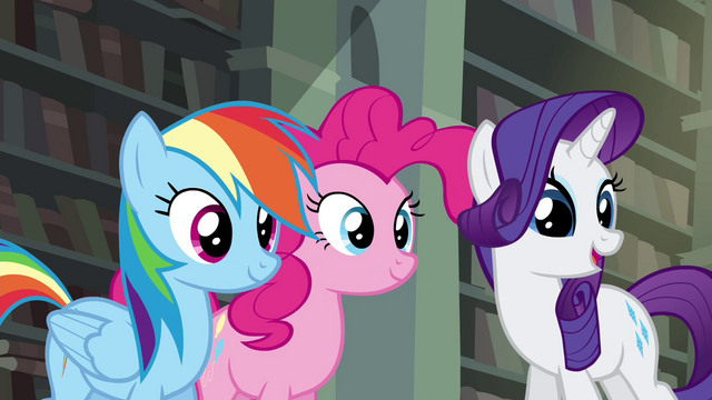 File:RD, Pinkie, and Rarity standing together S4E25.png