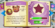 Traveling Pony album page MLP mobile game