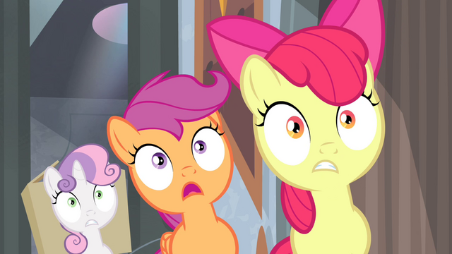 File:Cutie Mark Crusaders surprised S4E19.png