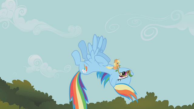 File:Applejack riding Rainbow Dash S1E09.png