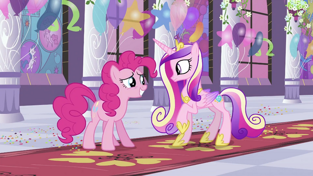 File:Pinkie Pie in front of Cadance S2E25.png