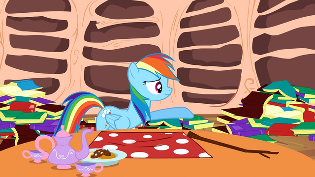 File:Rainbow Dash trying to reason with Spike S2E21.png