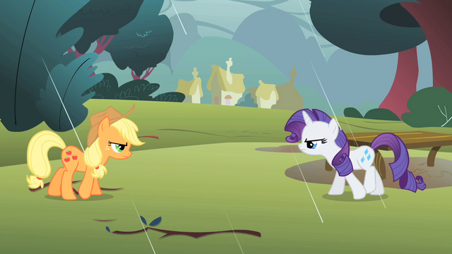 File:Applejack and Rarity retreating S1E08.png