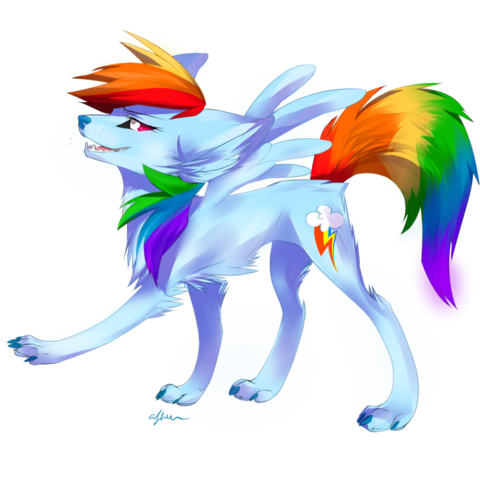 File:FANMADE wolf rainbow dash by affanita-d55y3bp.png
