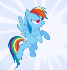 Rainbow Dash Wonderbolt fantasy cropped S1E3
