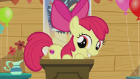 Apple Bloom showing off her cutie mark S5E18