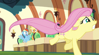 Fluttershy running away upset S6E18