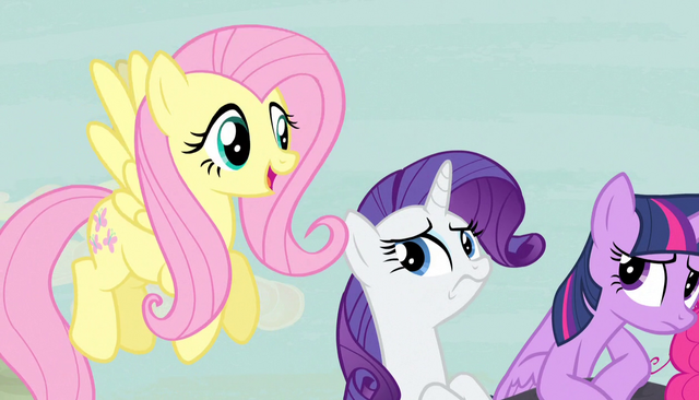 "File:Fluttershy ""I think it's lovely"" S5E1.png"