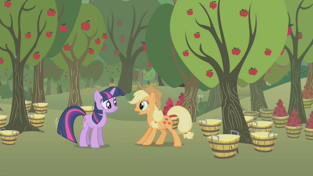 File:Applejack surprised by Twilight S1E04.png