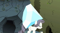 Grey Rarity carrying large gem S2E1