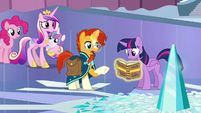 Twilight reading the book given by Sunburst S6E2