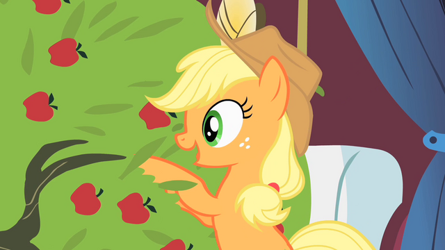 File:Applejack talks to the tree S1E21.png