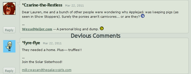 File:Lauren Faust on the Apple family raising pigs.png