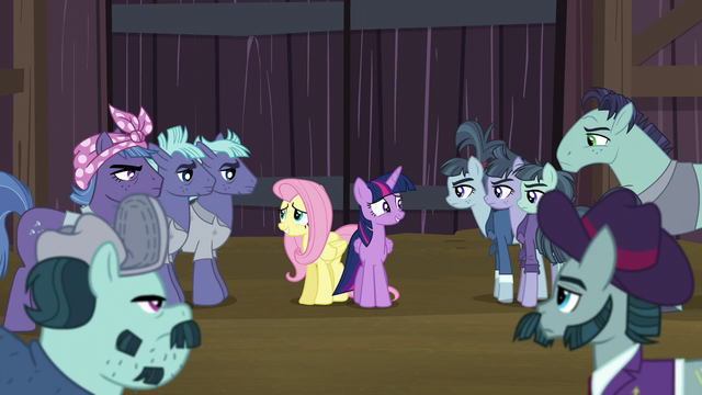 File:Twilight and Fluttershy surrounded by McColts S5E23.png