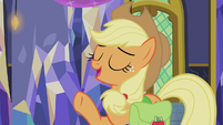 "Applejack ""you don't open presents 'til tomorrow"" S5E20"