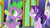 Spike and Starlight hear Twilight's voice S6E1
