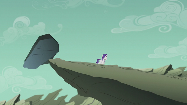 File:Filly Rarity walking away from the dumb rock S5E25.png