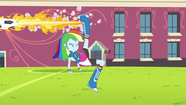 File:Rainbow Dash flaming soccer ball EG.png