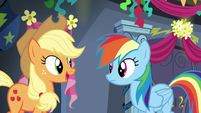 "Applejack ""can't wait to hear all about it"" S6E7"