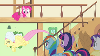 Fluttershy flying while crying S4E14