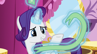 Rarity levitating jewels and ribbon S5E7
