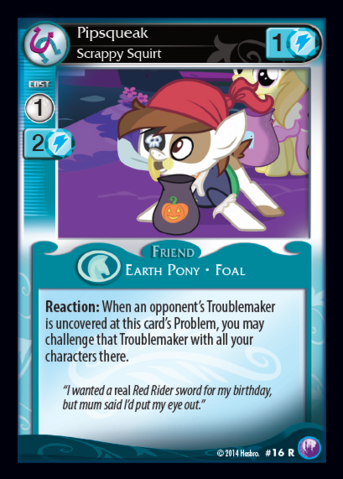 File:Pipsqueak, Scrappy Squirt card MLP CCG.png