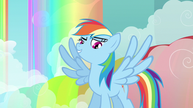 File:Rainbow Dash wings spread out S3E6.png