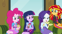 Rarity asks about Equestrian gossip EG2