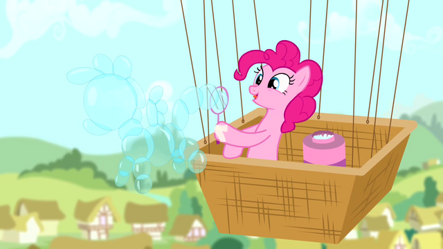 File:Pinkie Pie making a bubble shaped like a pony S4E12.png