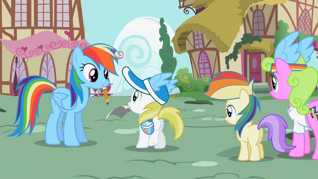 File:Ponies waiting for an autograph 2 S02E08.png