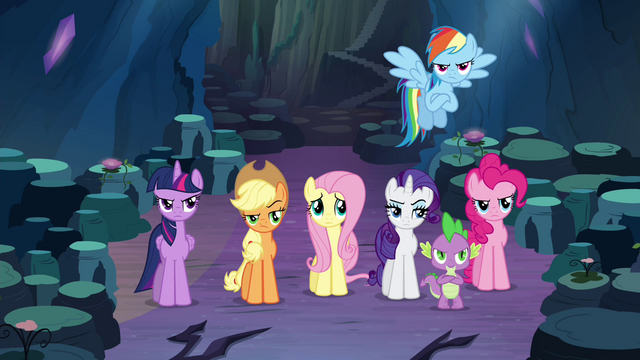 File:Main cast getting impatient with Discord S4E25.png