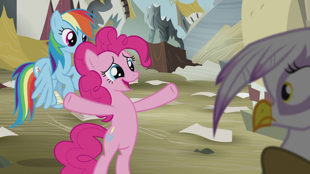 "File:Pinkie Pie ""you just need each other"" S5E8.png"