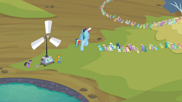 File:Rainbow Dash telling the pegasi S2E22.png