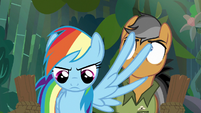Rainbow stops Quibble with her wing S6E13