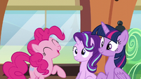 "Pinkie Pie ""even more sparkly and shiny"" S6E1"
