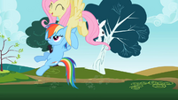 Rainbow Dash providing some extra lift S2E07