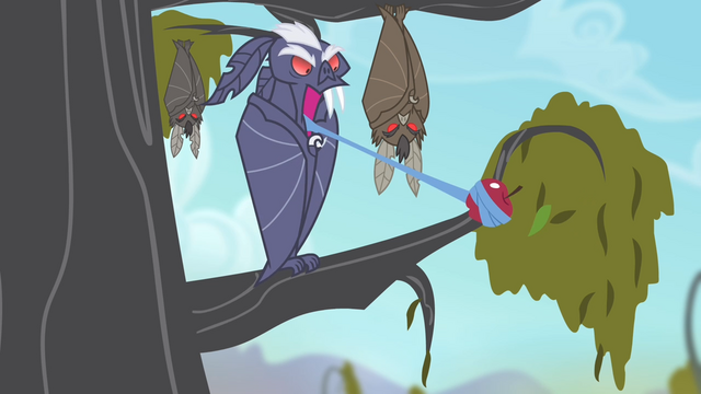 File:Bat taking hold of an apple with its tongue S4E07.png