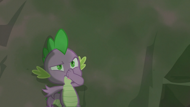 File:Spike holding his nose S3E9.png