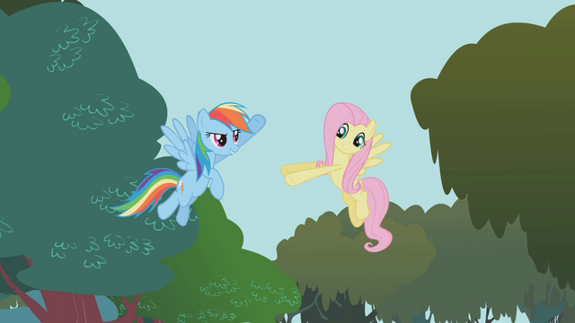 File:Rainbow about to high five Fluttershy S01E10.png
