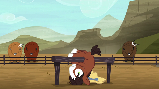 File:Young Trouble Shoes hanging upside-down S5E6.png